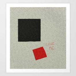 Black Square Red Square Art Print