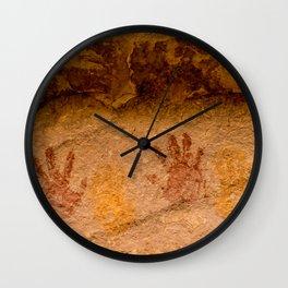 Anasazi Painted Hand prints - Utah Wall Clock
