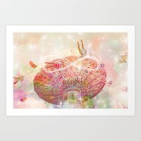 forever young Art Prints featuring Forever Young by Lisa Argyropoulos