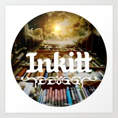 Inkitt empowers authors to become the kings and queens of the universe Art Print