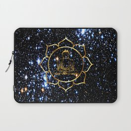 Gold funky Space Buddha Laptop Sleeve