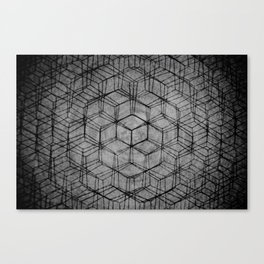 Aligning the Cube Canvas Print