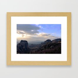 Meteora, Greece Framed Art Print