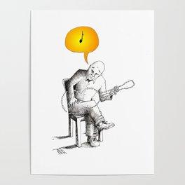 Playing Music Poster