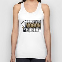 poetry Tank Tops featuring Vogon Poetry by Ryan McCondach