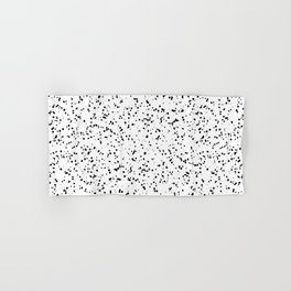 Speckles I: Double Black on White Hand & Bath Towel