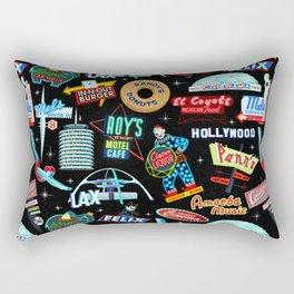 Vintage Signs Pattern #2 Rectangular Pillow