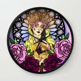 Hail Mary Wall Clock