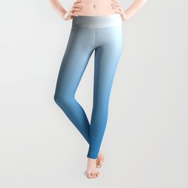 Blue and white forest Leggings
