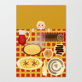 Screw Santa, there's food on the table! Canvas Print