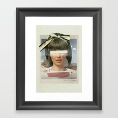 Tears In The Typing Pool | Collage Framed Art Print