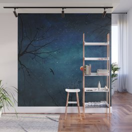Blood Moon Through Trees Wall Mural