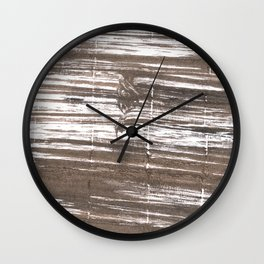 Umber abstract watercolor background Wall Clock
