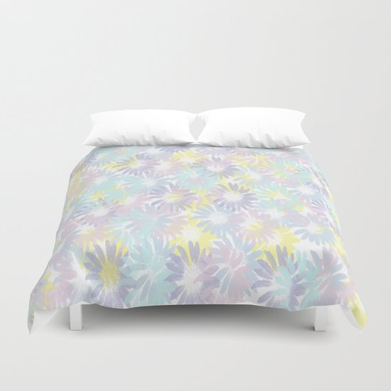 Painterly Pastel Spring Garden Abstract Duvet Cover
