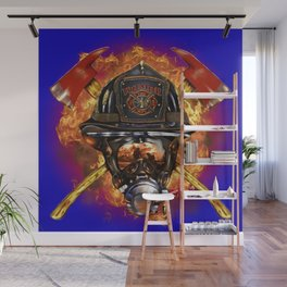 Firefighter rescue volunteer Wall Mural