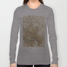 Vintage Map of Richmond Virginia (1934) Long Sleeve T-shirt