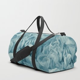 Soft Baby Blue Petal Ruffles Abstract Duffle Bag