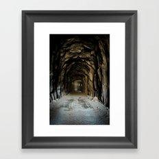 Snow Shred Tunnel Framed Art Print