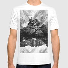 I will come to your river White Mens Fitted Tee MEDIUM