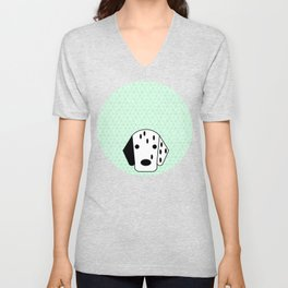 Pop Dog Dalmatian Unisex V-Neck