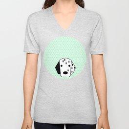 Pop Dog Dalmatian Unisex V-Neck