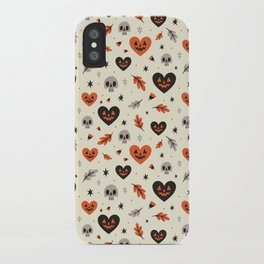 I Heart Fall Pattern iPhone Case