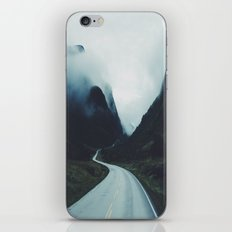 Dark road iPhone Skin