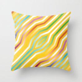 Symmetric diagonal stripes background 4 Throw Pillow