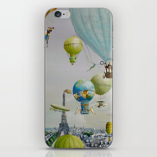 Ballooning over everywhere: Paris iPhone & iPod Skin