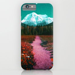 Path through the Forest and Mountains iPhone Case
