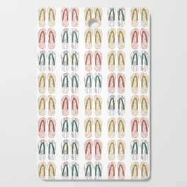 Multi-colored slates, flip-flops Cutting Board