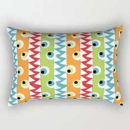 Friendly Frights on white background Rectangular Pillow