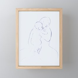 Mother and child Framed Mini Art Print