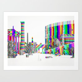 Color-Block Capriccio Art Print