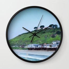 Pastel retro Malibu IV beach Wall Clock