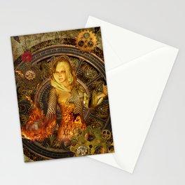 Wonderful steampunk lady Stationery Cards