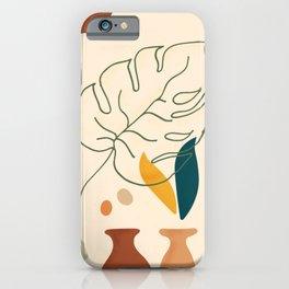 Monstera Leaf Contemporary Abstract iPhone Case
