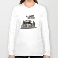 haunted mansion Long Sleeve T-shirts featuring new Orleans square.. haunted mansion by studiomarshallarts