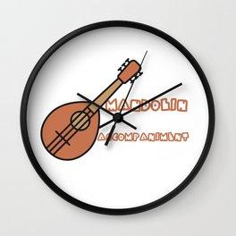 Mandolin Accompaniment Wall Clock