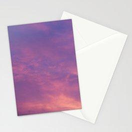 Peach & Violet Blaze Stationery Cards