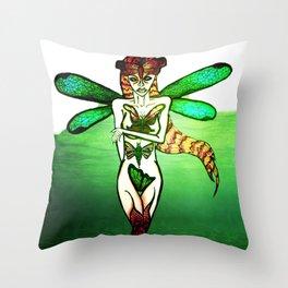 ButterflyWoman Throw Pillow