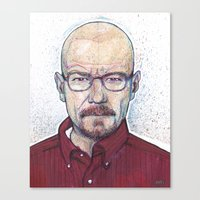 walter white Canvas Prints featuring WALTER by Jef2D