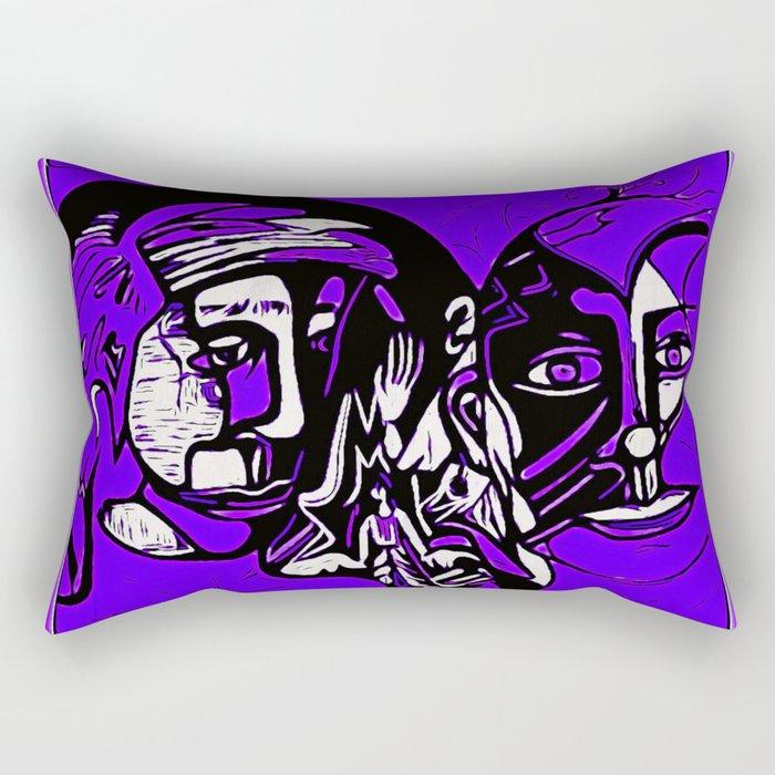 For Travis~His Purple dream Rectangular Pillow