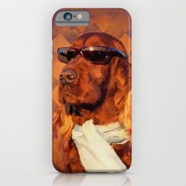 Irish Setter Dog - Sunglasses and Scarf iPhone Case