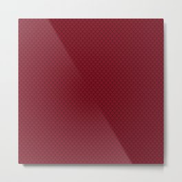 Burgundy Red Scales Pattern Metal Print