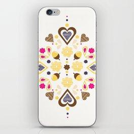 I heart acorns iPhone Skin