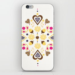 I heart acorns iPhone Skin