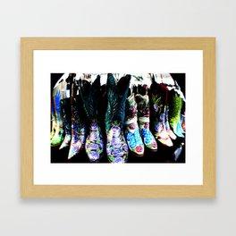 Boots Galore  Framed Art Print
