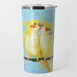 Cockatiels. Birds Travel Mug