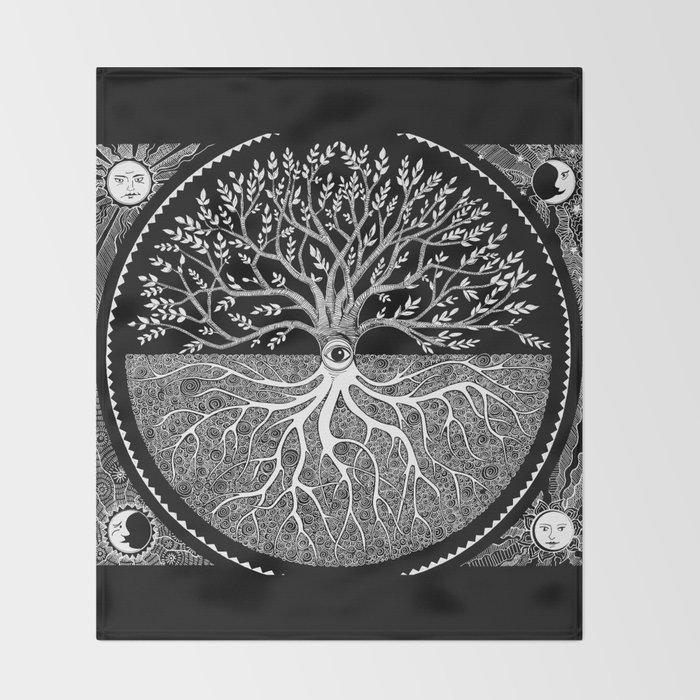 Druid Tree of Life Throw Blanket